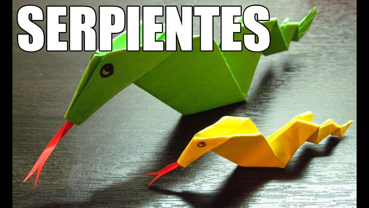 Como hacer una serpiente de papel manualidades y for Como hacer una pileta de material paso a paso