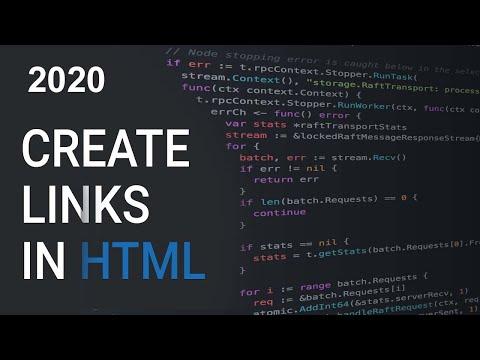 How Create Link HTML | Basic of HTML | HTML Tutorial 2020 thumbnail