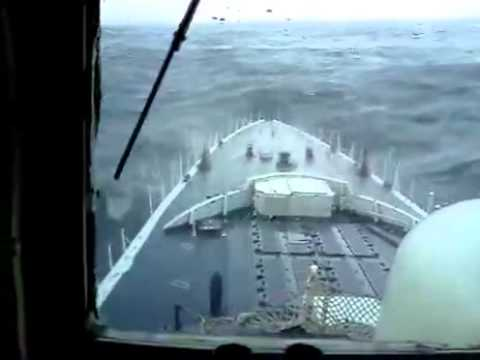 Watch Massive Rogue Wave Hits Navy Ship Youtube