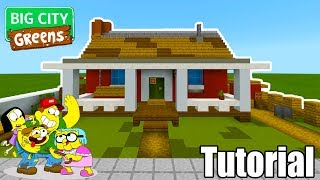 """Minecraft Tutorial: How To Make The Greens House """"Big City Greens"""""""