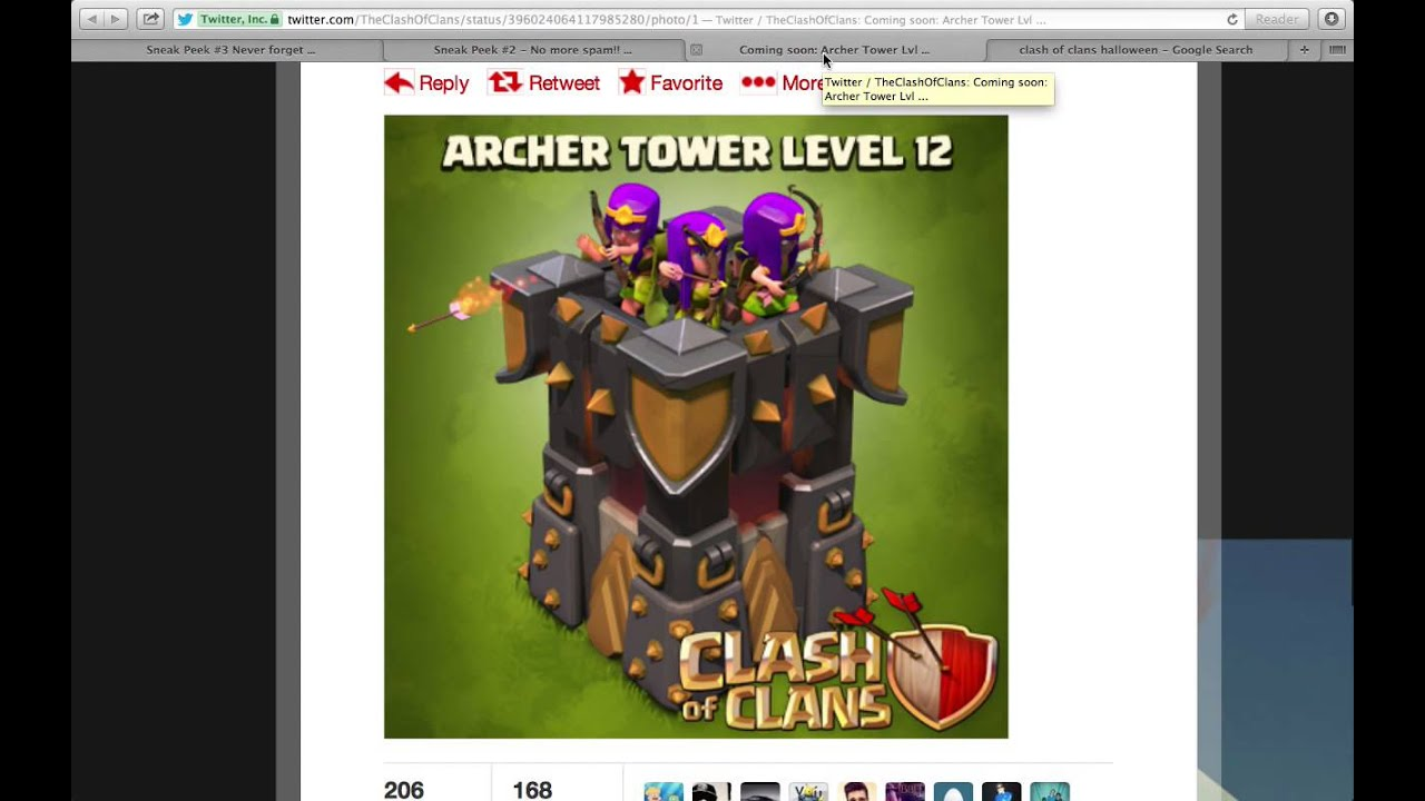 Clash of Clans November Update 2013 *NEW Goblins and Archer Tower ...
