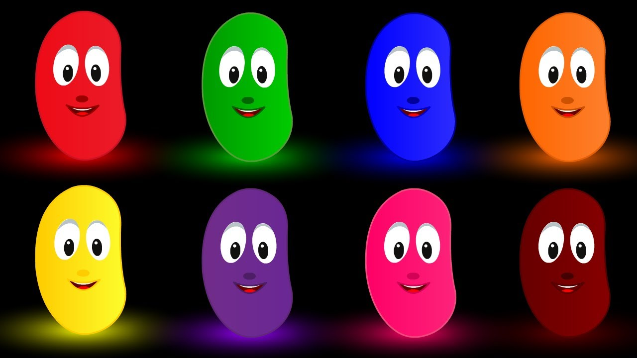 Colors for Children Learning with Jelly Beans  Kids Learning Videos Colors Names for Kids