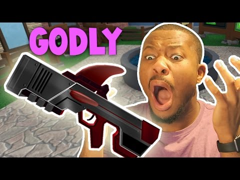 MOST RIDICULOUS GODLY GUN UNBOXING EVER!! | Roblox Murder Mystery 2
