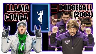 Llama Conga Emote In Real Life, Dodgeball (2004) Dance, Fortnite Saison 10