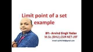 limit points of a set( Example-1), lecture-15, metric space, real analysis