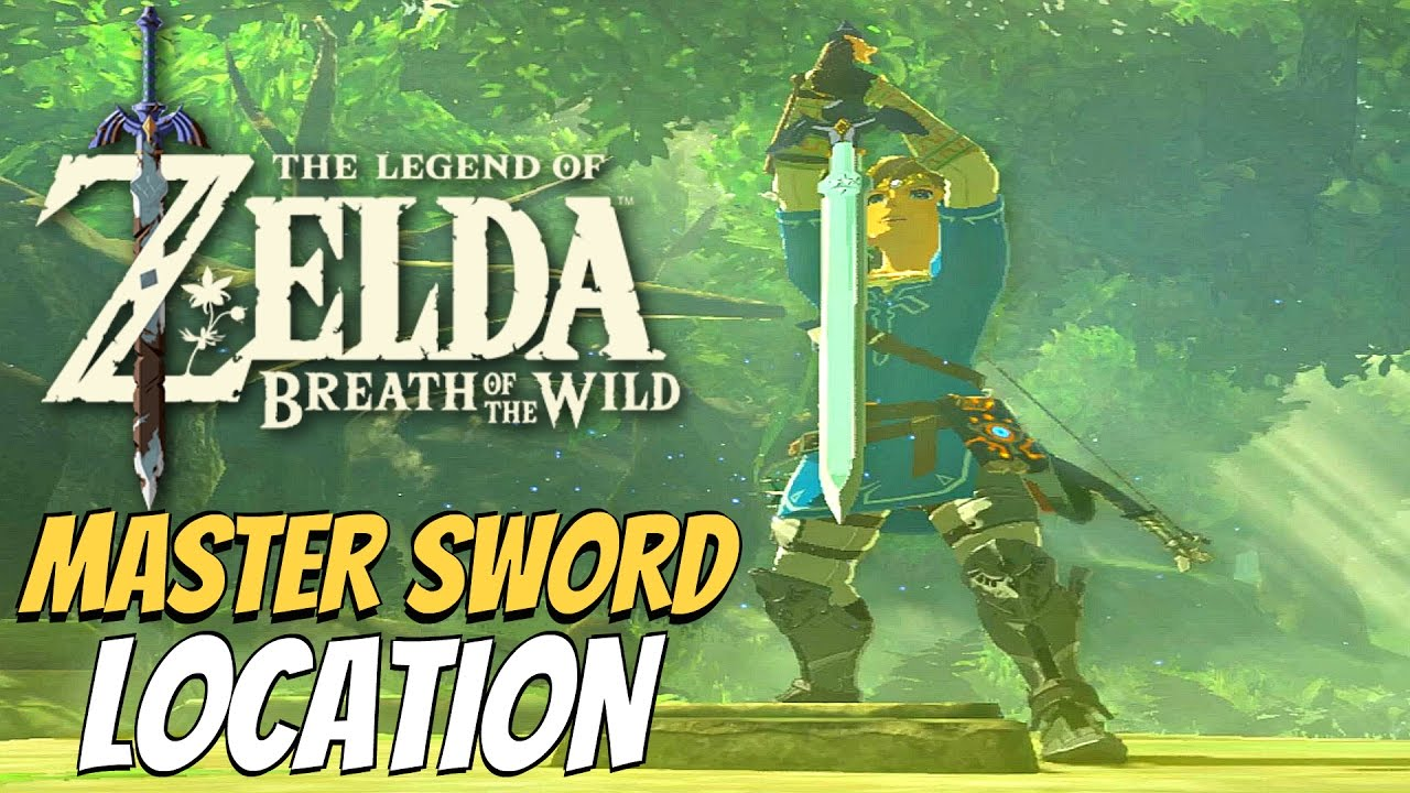 Zelda Breath Of The Wild Master Sword Location Lost Woods Puzzle Solution Youtube