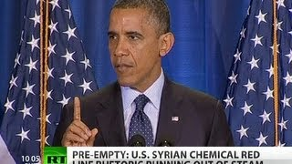 Pre-Empty: US ramps up WMD rhetoric against Syria