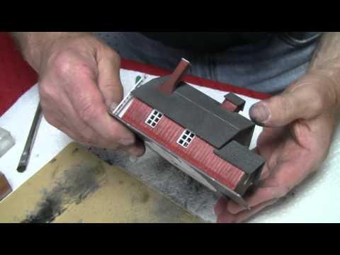 Basic Model Train Scenery Tutorial #3 - How to weather buildings with chalk