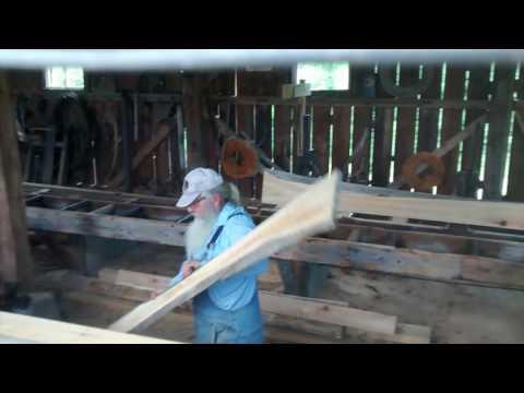 Vintage circular sawmill at Cumberland Village