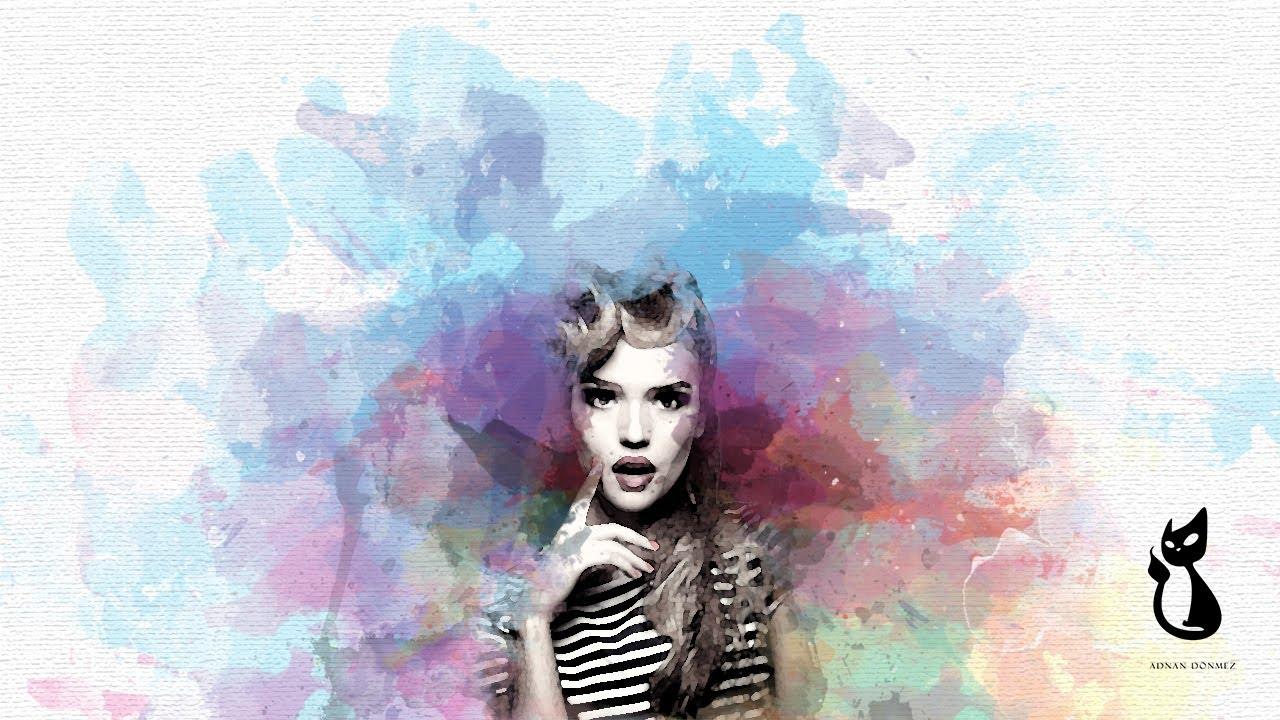Adobe Photoshop'ta Sulu boya Efekti