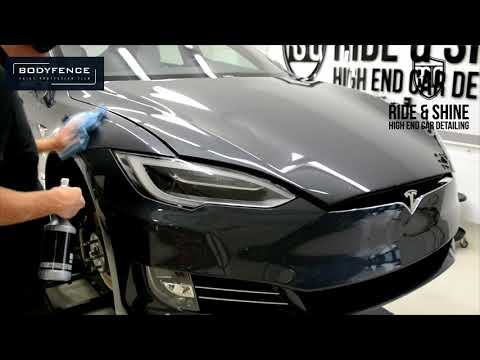 Tesla installation Hexis BodyFence and Modesta/ Scratch and permanent marker Test!