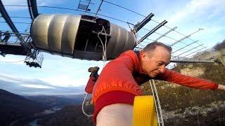 207m Bungy Jump at Skypark AJ Hackett Sochi /СкайПарк Сочи - банджи 207м