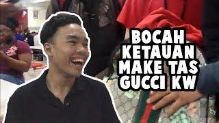 REACTION BOCAH KETAHUAN PAKE TAS GUCCI KW + GIVEAWAY