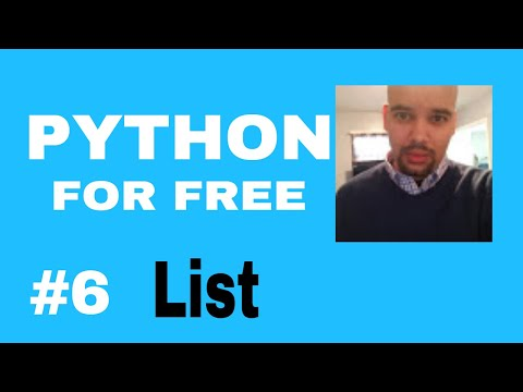 Learn Python for High Paying Job Free Course #6 List