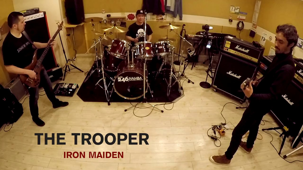 The Trooper Iron Maiden Band Cover Without Vocals Youtube