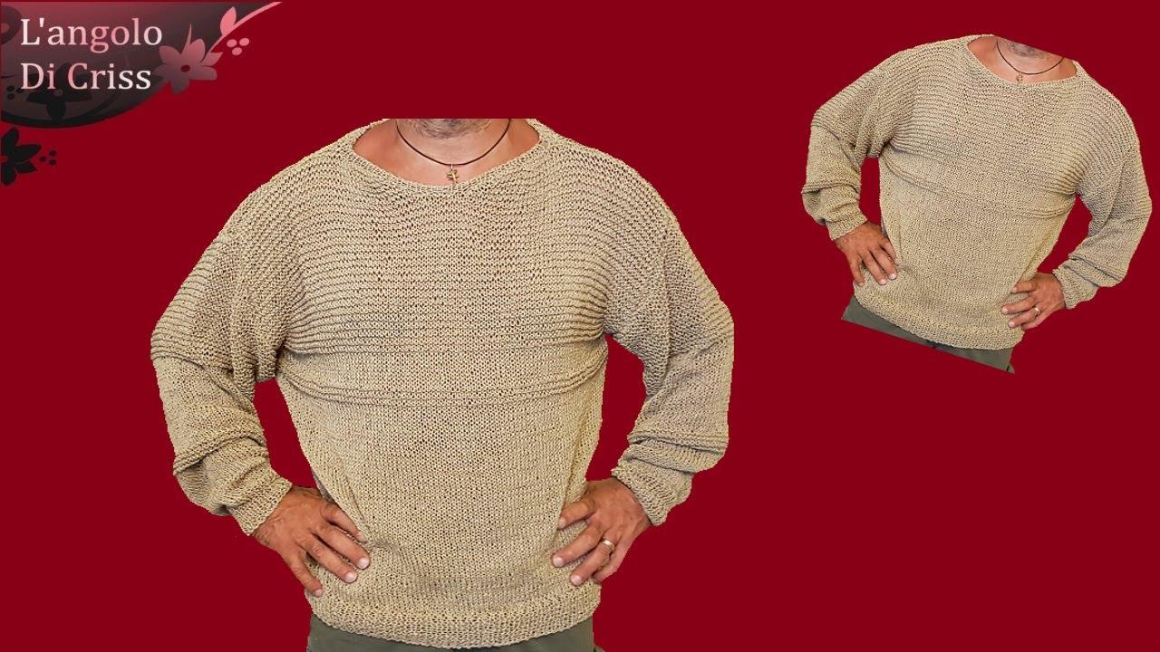 Maglione Da Uomo Ai Ferri Sand Sweater Maglia Ai Ferri Facile Passo A Passo