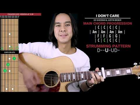 I Don't Care Guitar Cover Ed Sheeran Justin Bieber  🎸 |Tabs + Chords|