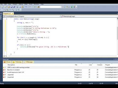 String Palindrome in C# thumbnail
