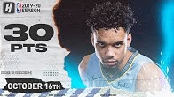 Dillon Brooks Full Highlights Grizzlies vs Thunder 2019.10.16 - 30 Points!