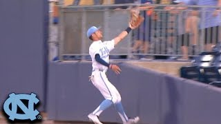 UNC's Dallas Tessar Makes Spectacular Grab In The Outfield