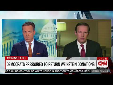 Sen. Chris Murphy (D-CT): DNC, DSCC, DCCC Should Return All of Harvey Weinstein's Contributions