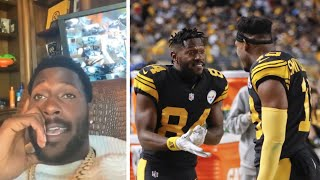 """Antonio Brown DISSES Juju Smith Schuster """"Y'ALL SAID HE WAS GOOD, ONLY HAD 500 Yards"""""""