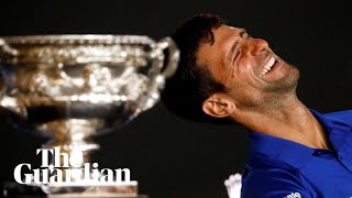 Novak Djokovic was on cloud nine as he spoke to the media after claiming an unprecedented seventh Australian Open men's singles crown. The resurgent ...