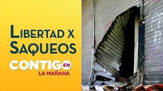 Saqueadores de La Cisterna quedaron en libertad y con medidas cautelares - Contigo en La Mañana