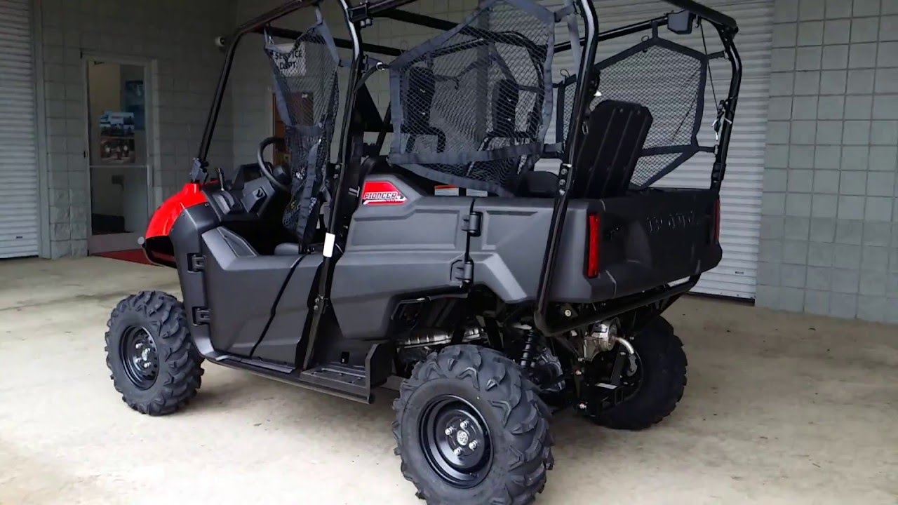 2016 honda pioneer 700 4 start up walk around sxs side by side atv utv youtube. Black Bedroom Furniture Sets. Home Design Ideas