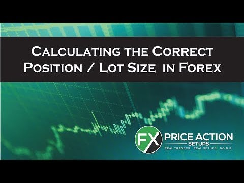 What is forex position size