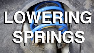 Can you Install Lowering Springs without Compressors?