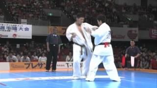 新極真会 第29回全日本ウエイト制大会 男子重量級準々決勝 山本和也 vs ...