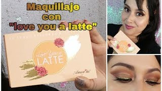 """Maquillaje con paleta """"Love you a latte"""""""