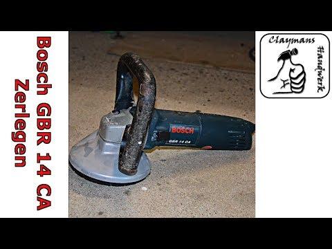 Bosch GBR 14 CA Betonfräse | Kohlebürsten Wechseln | Maschine Zerlegen Und Reparieren | Anker Prüfen