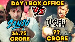 SANJU Vs Tiger Zinda Hai | DAY 1 Collection | Ranbir Kapoor Vs Salman Khan | BOX OFFICE RECORD Video