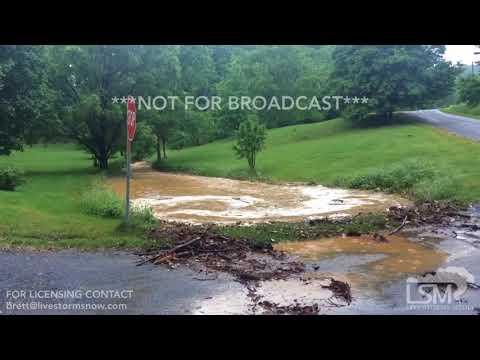 05-17-18 Bedford County Stewartsville, VA Flooding and mudslides