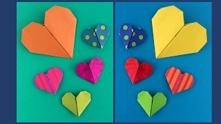 Easy Origami Heart -Make it in less than 5 minutes