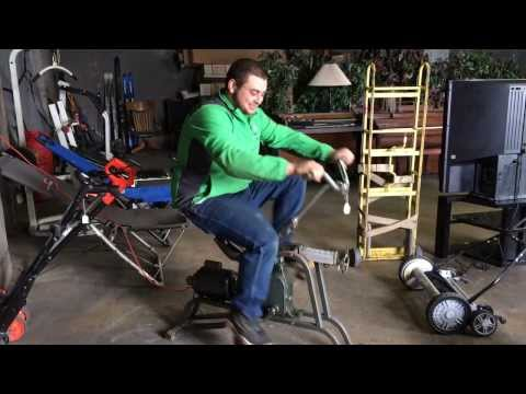 Knife collection and Exercycle bike made in New York (Trading Post)