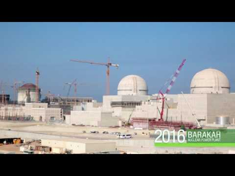 Construction Progress At UAE's Barakah Nuclear Energy Plant