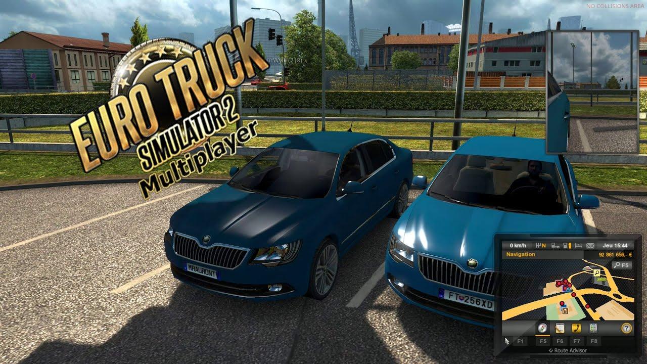 euro truck simulator 2 multiplayer des voitures sur le. Black Bedroom Furniture Sets. Home Design Ideas