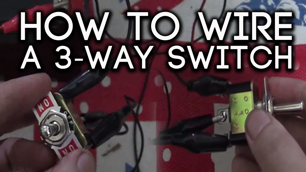How to wire a 3-way switch - YouTube  Prong Toggle Switch To Battery Wiring Diagram on 3 prong flasher wiring-diagram, 3 position toggle switch diagram, lighted toggle switch diagram, three prong switch diagram, 3 prong rocker switch wiring, pioneer brake bypass relay wiring diagram, single pole double throw switch diagram, on off on switch diagram, three-position car light switch diagram,