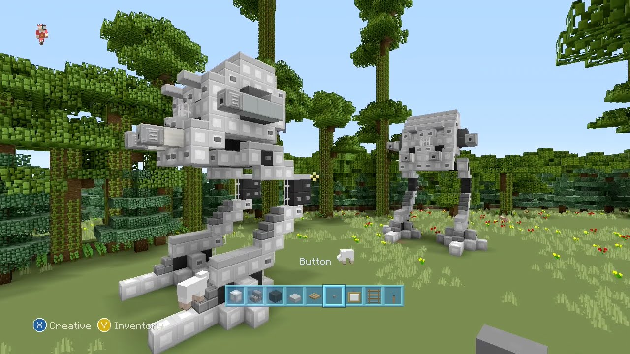 how to build an at at in minecraft
