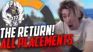 xQc - THE RETURN! OVERWATCH PLACEMENTS W/CHAT
