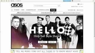 Регистрация и покупки на asos.com - видео-урок