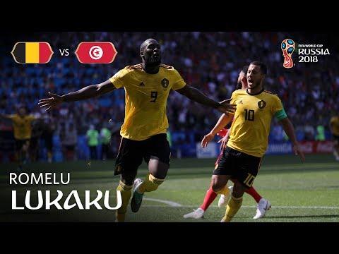 Romelu LUKAKU Goal 2 - Belgium v Tunisia - MATCH 29