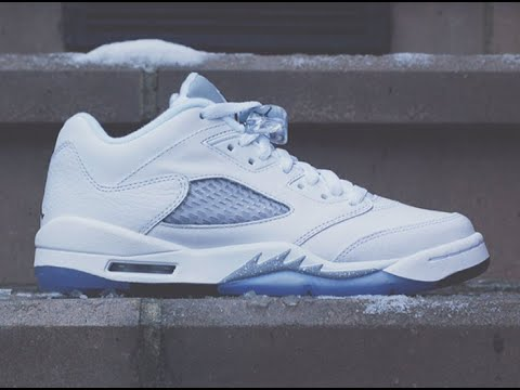 meet 3f3ef e6ec1 Air Jordan Retro 5 Low GS (White, Black, Wolf Grey) Early Access Review