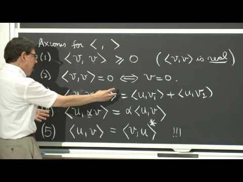 Inner Product for Complex Vector Spaces