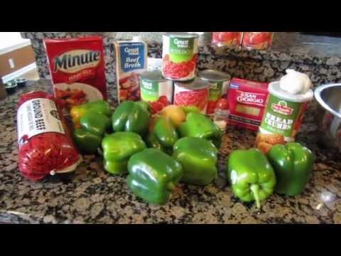 Making Stuffed Pepper Soup