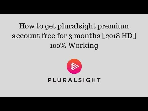 How to get pluralsight premium account free for 3 months