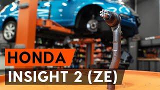 Cum se înlocuiesc capetele barei de direcție transversale pe HONDA INSIGHT 2 (ZE) [TUTORIAL AUTODOC]